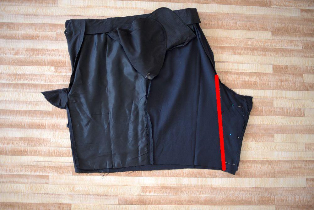 Rock aus Anzughose