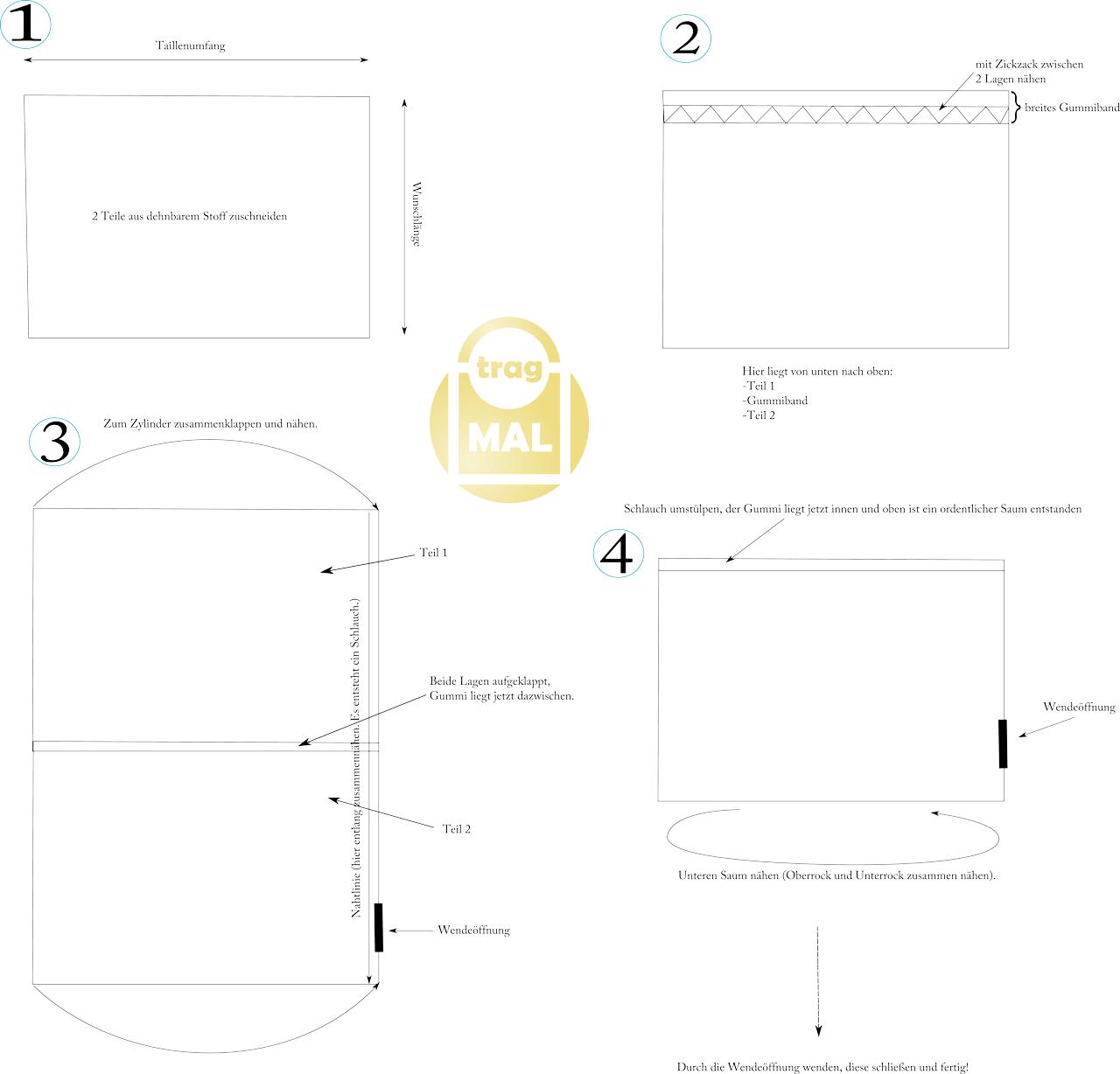 Anleitung Bleistiftrock